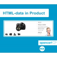 "Module ""HTML data in the product"" for Opencart"