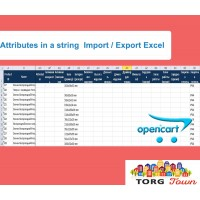 Import / Export Excel (Attributes, options, discounts, promotions and pictures)